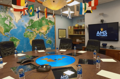 Meeting Room with conference phones at AMS Studios