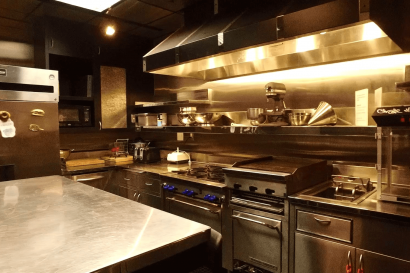 Full kitchen at AMS Studios