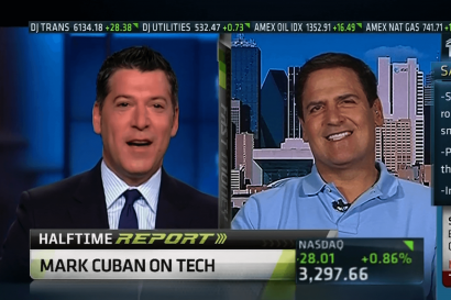Live Shot Studio - Live-Shot - Mark-Cuban-on-CNBC_3 at AMS Studios in Dallas Texas