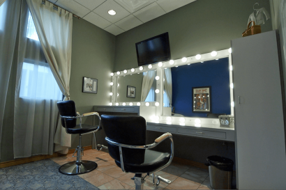 NY Make Up Room at AMS Studios in Dallas Texas