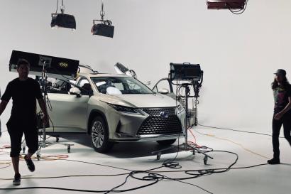 Studio A - white cyc Lexus